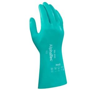 Guantes de protección química de nitrilo AlphaTec® AquaDri® 58-330