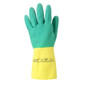 Guantes de protección química de látex de caucho Bi-Colour™ 87-900