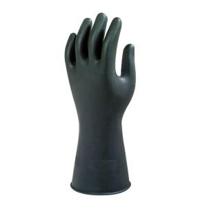 Guantes de protección química de látex de caucho Black Heavyweight G17K