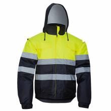 Cazadora bomber con faldón y capucha