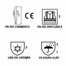 CAZADORA BOMBER ALTA VISIBILIDAD COMBINADA CON FALDÓN ADEEPI-CLASE 2. REF. CHAVB-1075-W