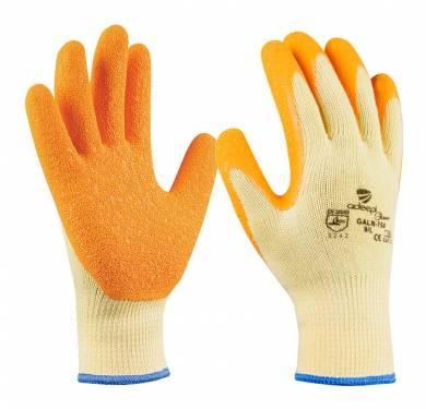 GUANTE DE SEGURIDAD POLYCOTTON/LATEX ADEEPI GLOVES: GALN-700GUANTE DE PROTECCIÓN DE POLYCOTTON/LÁTEX ADEEPI 3.2.4.2 Puño elástico sin costuras para un mejor ajuste a la muñeca. Acabado rugoso en la palma para asegurar un buen agarre en seco y en mojado. Dorso ventilado para optimizar el confort. Buena resistencia al desgarre y a la perforación. Cumple con las exigencias recogidas en las normas europeasEN 420-03 (Exigencias Generales para Guantes de Protección) y EN 388-03 (Guantes contra Riesgos Mecánicos). Tallas: 6, 7, 8, 9, 10 PALMA: naranjaDORSO: amarilloPUÑO: amarillo USOS: ideal para la manipulación e inspección de productos y para trabajos de mantenimiento en general.