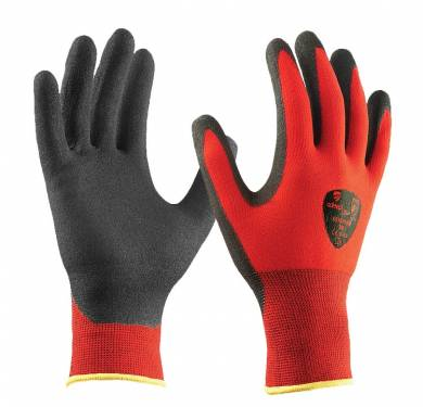 GUANTE ROJO NYLON/T-TOUCH ADEEPI GLOVES: NS15FO-560GUANTE ROJO NYLON/T-TOUCH. 4.1.3.1 Guante con base tejida de nylon-spandex sin costuras que permite una gran adaptabilidad a los contornos de la mano. Estructura especial de hilo que maximiza la circulación de aire y disipa el calor de las manos al esterior. Recubrimiento T-TOUCH (R). Alta tecnología que combina impermeabilidad y transpirabilidad. Su acabado mate confiere gran adaptabilidad a los contornos de la mano permite una comodidad y destreza así como agarre únicos. Puño elástico sin costuras para un mejor ajuste a la muñeca. Borde del puño remallado en colores para visualizar la talla Cumple con las exigencias recogidas en las normas europeas EN 420-03 (Exigencias Generales para Guantes de Protección) y EN 388-03 (Guantes contra Riesgos Mecánicos). Tallas: 6, 7, 8, 9, 10