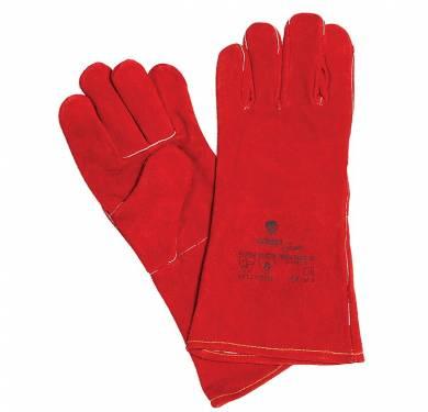 GUANTE DE SEGURIDAD PIEL ADEEPI GLOVES: WELDER-KGUANTE SOLDADOR ROJO KEVLAR 4.2.3.3 (EN388/03), 4.1.2.2 (EN 407/04) Guante de cinco dedos confeccionado totalmente en serraje, color rojo con dorso y manguito largo para las costuras en casi la totalidad de las comisuras. Además cuenta con protector de costuras en casi la totalidad de las comisuras. En su interior está completamente forrado, es decir un guante textil dentro de uno de cuero. Está cosido mediante costuras internas, utilizando hilo de KEVLAR. Este Guante Modelo WELDER es un Equipo de Protección (EPI), que cumple con las exigencias esenciales de sanidad y seguridad que se especifican en el Real Decreto 1407/1992, del 20 de Noviembre, en el que se recogen las directrices de la Directiva del Consejo de Europa 89/686/CEE. Así mismo el presente EPI cumple con las exigencias recogidas en las normas europeas EN 420/03 (Exigencias Generales para Guantes de Protección), EN 388-03 (Guantes contra Riesgos Mecánicos) y EN 407-95 (Guantes contra riesgos Térmicos). EL NIVEL DE PROTECCIÓN EN388-03 (contra riesgos mecánicos): 4.2.3.3. El NIVEL DE PROTECCIÓN EN407-04 (Prestación térmica): 4.1.2.2. Este guante está especialmente indicado para ser utilizado en aquellos trabajos que se requiera una buena protección mecánica y térmica, tales como soldador o similar, manteniendo un buen nivel de confort. Tallas: Única Colores: Rojo