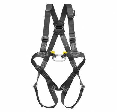 P30NArnés de seguridad con 2 puntos de anclaje, frontal y dorsal.Confeccionado en Aramida para ser resistente a la llama.Regulación en piernas y hombros.