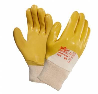 Guantes de nitrilo de uso general Nitrotough™ N230YLa alternativa ideal a los guantes de PVC y de cuero fino Forro entretejido de algodón 100%. Puño tejido para un ajuste perfecto. Muy buena resistencia a la abrasión. Confort y flexibilidad óptimos. Excelente destreza. Aplicaciones ideales Montaje y acabado. Mantenimiento de instalaciones y fábricas en general. Fabricación y manipulación de metales ligeros. Fabricación de metales. Control de calidad.