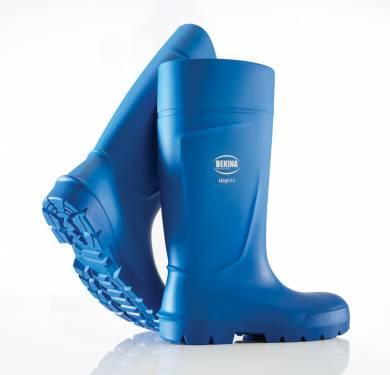 BOTA DE POLIURETANO stEplite®FOODXTRA CONFORT ·Resiste aceites, grasas, estiercol y purín. ·Con puntera de SEGURIDAD ·Forma más ancha, con puntera más alta y suela más antideslizante. ·Fabricada en poliuretano por lo que es un 40% MÁS LIGERA que las de goma o pvc. ·Material termoaislante: pies frescos en verano y calientes en invierno. ·Incluye una plantilla absorción humedad. USOS:Especial para ALIMENTARIA NORMATIVA: EN ISO 20345:2011 REF.: BEKINA®stEplite®FOOD CATEGORÍA: S4 SRC CI MATERIAL: PU TALLAS: 35-48 COLOR: Blanco y Azul.