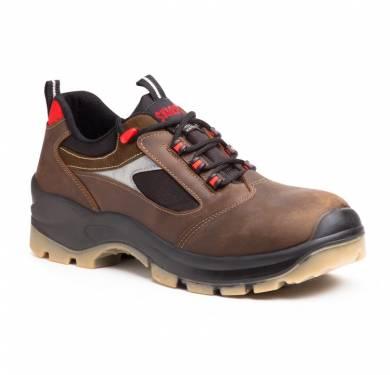 ZAPATO DE SEGURIDAD SKARPPA PERSEO (S3 WR SRC)ZAPATO DE SEGURIDAD SKARPPA. CE EPI CAT.II Nuestro zapato de seguridad PERSEO es un calzado de protección con calidades superiores dentro de nuestra Línea Platinum para usuarios que buscan una alta protección en su ropa de trabajo a la vez que mayor confort y durabilidad. IMPERMEABLE y TRANSPIRABLE Puntera: Temoplástica ultra ancha. Suela: PU/TPU. Forro: Termorregulador. Tipo red de alta transpirabilidad. Acolchado tipo FOAM. Piel: Flor genuina hidrofugada. Membrana: DRY-PROOF Plantilla interior: Antiestática, antibacterias, antihongos. Plantilla Anti Perforación: Textil. METAL FREE - Modelo diseñado sin ningún componente metálico. Norma: EN ISO 20345:2011 Categoría: S3 WR CI SRC Tallas de fabricación: 38 – 47 Uso: Profesional