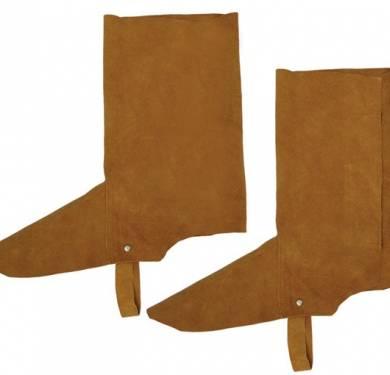 POLAINA SERRAJEPolaina para soldador color marrón destinado a la protección del usuario en trabajos expuestos al calor y al fuego, trabajos de soldeo. Este EPI es de categoría II. Esta prenda está fabricada en piel serraje y tiene cierre con cinta autoadherente.