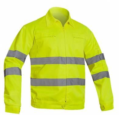 CAZADORA ALTA VISIBILIDAD ADEEPI-CLASE 3· Cazadora alta visibilidad· Cuello pico · Cierre con cremallera· Dos bolsillos en el pecho con cremallera· Un bosillo en el brazo izquierdo· Puños elásticos y con cinta velcro· Cintura elástica en costados· Dos bandas reflectantes en tórax y brazos NORMATIVA: COMPOSICION: TALLAS 50 a 68 REF. CTAV-6010 (amarillo)