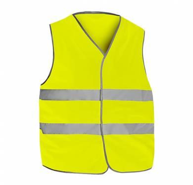 CHALECO REFLECTANTE ALTA VISIBILIDAD ADEEPI-CLASE 2· Chaleco reflectante alta visibilidad· Bandas reflectantes en tórax· Ribete en gris· Cierre con velcro NORMATIVA: COMPOSICION: TALLAS S/M, L/XL, 2XL/3XL REF. CHAV-6060 (amarillo) CHAV-6060-NA (naranja)