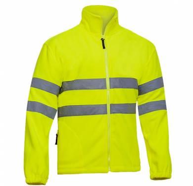 FORRO POLAR ALTA VISIBILIDAD ADEEPI-CLASE 3. REF. FPAV-6065· Forro polar alta visibilidad· Dos bolsillos frontales con cremallera· Cierre con cremallera· Cintas reflectantes en tórax y brazos· Puños elásticos· Cintura ajustable con cordón NORMATIVA: COMPOSICION: TALLAS S a 3XL REF. FPAV-6065 (amarillo) FPAV-6065-NA (naranja)