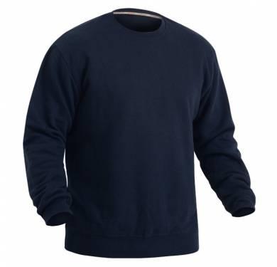 SUDADERA ADEEPI. REF. 353-CVC-30· Sudadera manga larga color marino.· Cintura y puños elásticos. · Cuello redondo. COMPOSICION 50% algodón, 50% poliéster TALLAS XS a 4XL