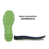 SUELA CAUCHO/EVA: ADHERENCIA